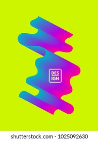 Abstract wavy background for banner, flyer and poster. Dynamic effect. Vector illustration. Can be used for advertising, marketing, presentation.
