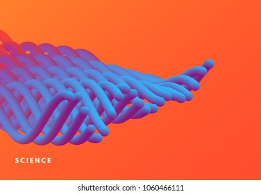 Abstract wavy background for banner, flyer and poster. Dynamic effect. Vector illustration. Cover design template. Can be used for advertising, marketing, presentation.