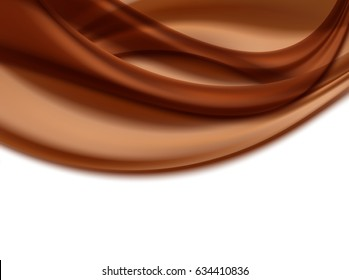 abstract wavy background with chocolate colors. vector illustration