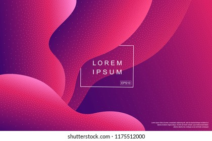 Abstract wavy background with flickering particles. Modern gradient backdrop