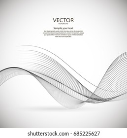 Abstract wavy background. Vector creative illustration