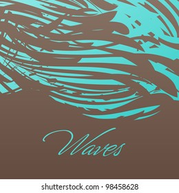 Abstract wavy background. Vector illustration.