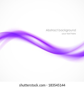 Abstract wavy background in violet color. Template for design. Design with space for your text. Design element. Vector illustration.