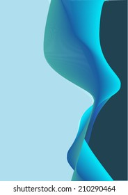 Abstract wavy blue background. Vector
