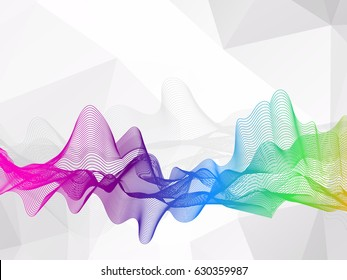 Abstract wavy lines colorful and Abstract polygonal background, Vector