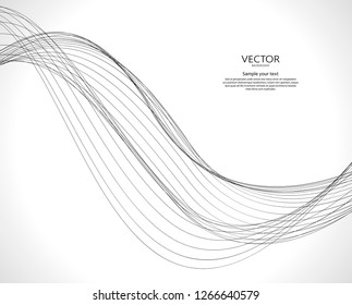 Abstract wavy motion dynamic vector background.  Lines web illustration.