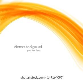 Abstract wavy orange background