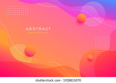 Abstract wavy shapes background. vector illustration