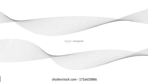 Abstract wavy stripes on a white background isolated. Wave line art, Curved smooth design. Vector illustration EPS 10.
