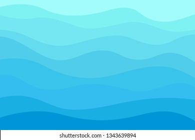Abstract wavy wallpaper of the surface. Waved background. Cold colors. Pattern with lines and waves. Multicolored texture. Dinamic texture. Doodle for design