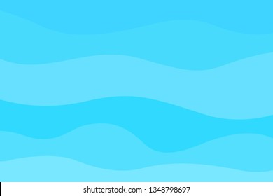 Abstract wavy wallpaper of the surface. Waved background. Cold colors. Pattern with waves. Multicolored dinamic texture. Doodle for design