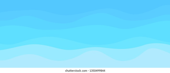 Abstract wavy wallpaper of the surface. Waved background. Cold colors. Pattern with lines and waves. Multicolored texture