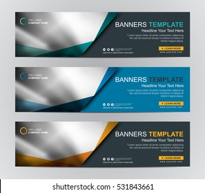 Abstract Web banner design background or header Templates