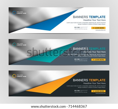 Abstract Web Banner Design Background Header Stock Vector (Royalty ...