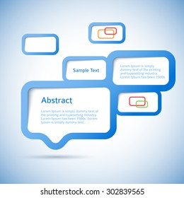 Abstract web design bubble. Vecrot illustration