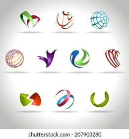 Abstract web Icons set
