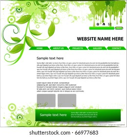 abstract Website design template, vector illustration.