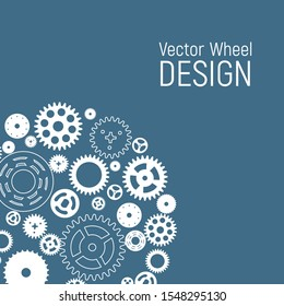 Abstract Wheel Design Background. Vector Illustration EPS10