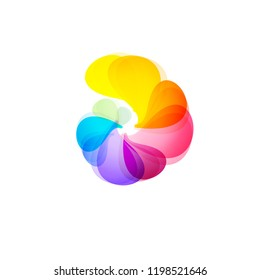 Abstract whirl logo template. Abstract logo design template. Business abstract icon. As sign, symbol, logo, web, label, emblem. Abstract whirl logo template. Infinite shape. Vector illustration
