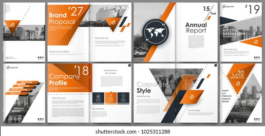Abstract white a4 brochure cover design. Fancy info banner frame. Modern ad flyer text. Annual report binder. Title sheet model set. Fancy vector front page. City font blurb art. Orange line figure