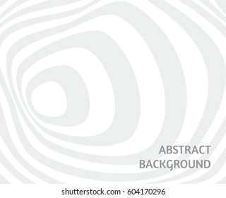 Abstract white background with black distorted circles. Tunnel concept. Vector design illustration.