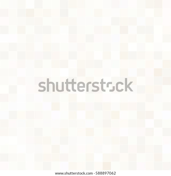 Abstract white background with mesh of squares. Mosaic. Geometric template