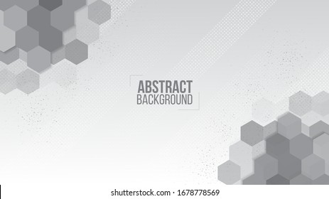 Abstract white background pattern elegant hexagons shape and texture design template vector.