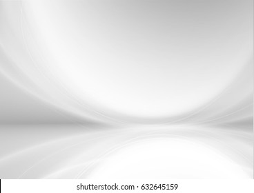Abstract white background or pattern with smooth lines. vector design.