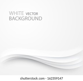 abstract white background with waves and shadows