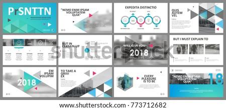 abstract white blue presentation slides modern のベクター画像素材