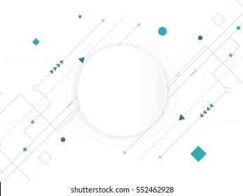 Abstract white Circle digital technology background, futuristic structure elements concept background design