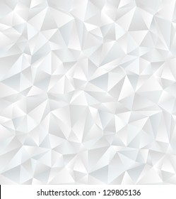 Abstract white geometric seamless pattern. Vector Illustration