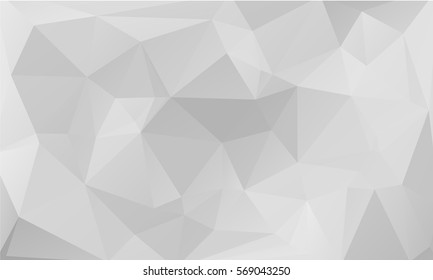 Abstract white and gray background with polygonal pattern