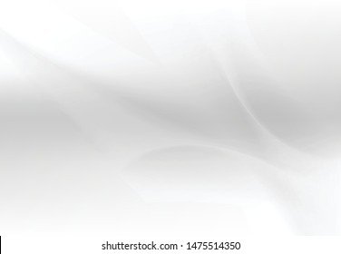 Abstract white and gray background. Subtle abstract background, blurred patterns. Light pale vector background. Abstract pale geometric pattern