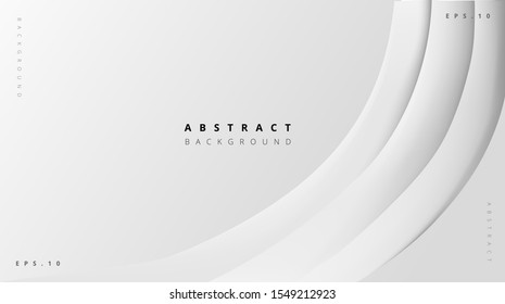 abstract white gray geometric curved background eps 10