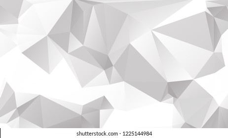 Abstract White and Gray Geometrical Triangle Vector Background.