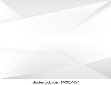 Abstract white and gray gradient background. geometric modern design. vector Illustration.