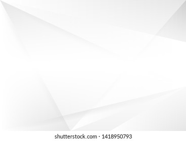 Abstract white and gray gradient background.geometric modern technology design.vector Illustration.