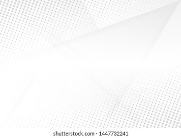 Abstract white and gray gradient background.Halftone dots design background.vector Illustration.