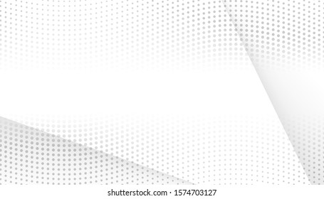 abstract white and gray light gradient lines background. texture halftone dots design background. vector Illustration