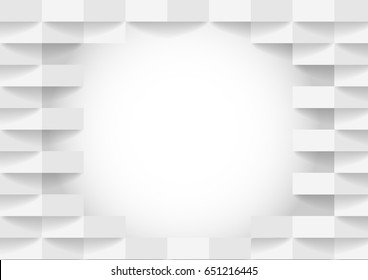 abstract white and gray tone vector background, brick perspective with shadow modern concept, space for text or message web design