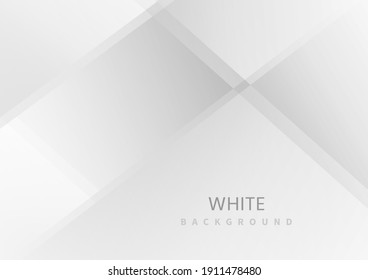 Abstract white and gray triangle overlapping layer background. Modern style. You can use for ad, poster, template, business presentation. Vector illustration