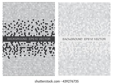 Abstract white and gray vector background