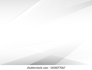 Abstract white and grey geometric technology modern design background.