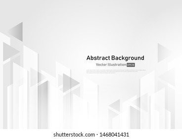 Abstract white and grey geometric technology design background.