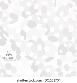 Abstract white and grey rounded triangles background, vector illustration eps10