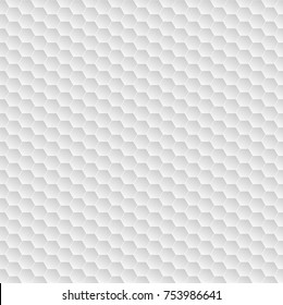 Abstract white hexagon pattern seamless background texture vector illustration.