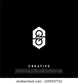 abstract white hexagonal QQ logo letters design concept