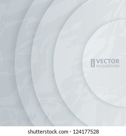 Abstract white and light gray round shapes background. RGB EPS 10 vector illustration