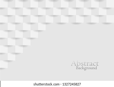 Abstract white modern square texture background, vector design.